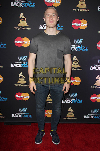 LOS ANGELES, CA - FEBRUARY 12: Mike Posner at the 2016 Grammys Radio Row Day 1 presented by Westwood One, Staples Center, Los Angeles, California on February 12, 2016.   <br /> CAP/MPI/DE<br /> &copy;DE//MPI/Capital Pictures