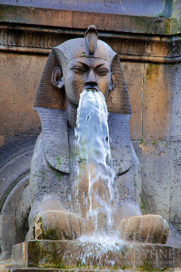 Sphinx at the Fontaine du Palmier in Paris