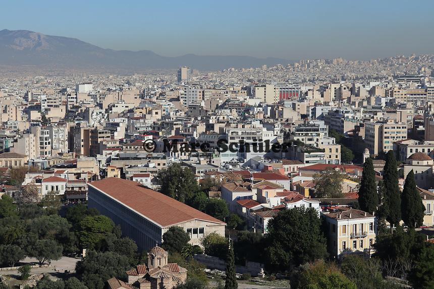 Blick über Athen - 23.11.2017: Athen mit der Costa Deliziosa