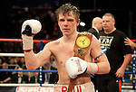 GLASGOW, SCOTLAND - MARCH 10: Paul Appleby of Scotland defeats Stephen Ormond of Ireland  to win the Vacant Celtic Super-Featherweight Championship bout at the Braehead Arena on March 10, 2012 in Glasgow, Scotland. (Photo by Rob Casey/Getty Images)