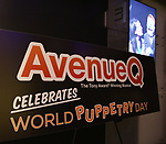 """""""Avenue Q"""" Celebrates World Puppetry Day at The New World Stages on 3/21/2019 in New York City."""