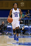 22 November 2016: Duke's Kyra Lambert. The Duke University Blue Devils hosted the Old Dominion University Monarchs at Cameron Indoor Stadium in Durham, North Carolina in a 2016-17 NCAA Division I Women's Basketball game. Duke won the game 92-64.