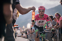 Rigoberto Uran (COL/EducationFirst-Drapac) rolling in at the finish<br /> <br /> Stage 10: Annecy &gt; Le Grand-Bornand (159km)<br /> <br /> 105th Tour de France 2018<br /> &copy;kramon