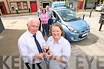 Marie Sugrue from Ardfert was the latest winner of the Tralee Credit Union's latest Member Car Draw. Pictured on Friday is Marie receiving her new Hyundai IX20 from Adams, Tralee. Pictured, front, from left: Fintan Ryan (Manager Tralee Credit Union) and Marie Sugrue (winner). Back, from left: Cathal Tyther (Chairman, Tralee Credit Union), Valerie Sugrue and Noel O'Connor (Sales Manager, Adams Tralee)