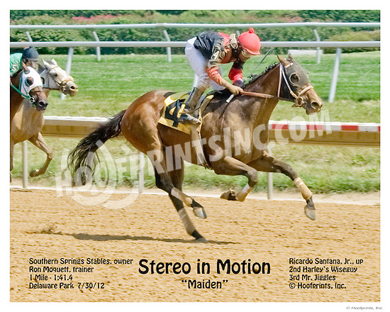 Stereo in Motion winning at Delaware Park on 7/30/12