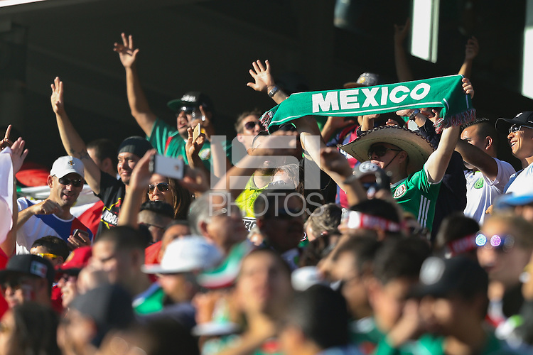 Santa Clara, CA - Saturday June 18, 2016: Fans during a Copa America Centenario quarterfinal match between Mexico (MEX) and Chile (CHI) at Levi's Stadium.
