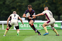 Fraser Lyle of London Scottish in action during the Greene King IPA Championship match between London Scottish Football Club and Doncaster Knights at Richmond Athletic Ground, Richmond, United Kingdom on 30 September 2017. Photo by Jason Brown / PRiME Media Images.