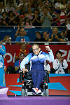 Norway's Roger Aandalen receives his bronze medal for the individual BC1 boccia competitionLondon Paralympic Games - Boccia 8.9.12