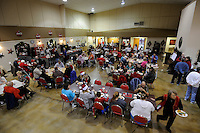 NWA Media/ J.T. Wampler - Around 100 people were served a traditional meal of turkey, stuffing and the trimmings at the Springdale Senior Center Thursday Dec. 25, 2014.
