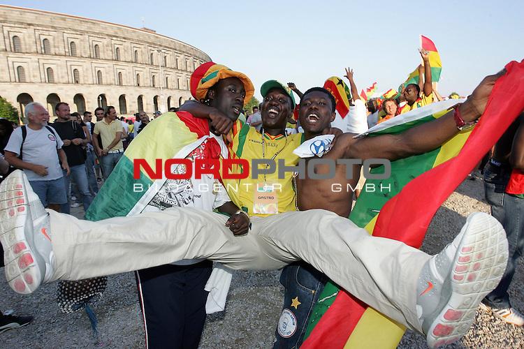 FIFA WM 2006 -  Fan Meile Nuernberg<br /> <br /> <br /> <br /> Ghana Fans feiern am Volksfestplatz in N&cedil;rnberg<br /> <br /> <br /> <br /> <br /> <br /> <br /> <br /> Foto: nordphoto