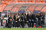 20 October 2014: Trinidad & Tobago Randy Waldrum (USA) (left) with his staff. The Trinidad & Tobago Women's National Team played the Guatemala Women's National Team at RFK Memorial Stadium in Washington, DC in a 2014 CONCACAF Women's Championship Group A game, which serves as a qualifying tournament for the 2015 FIFA Women's World Cup in Canada. Trinidad and Tobago won the game 2-1 to secure advancement to the semifinals.