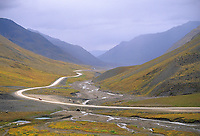 James Dalton Highway (Haul Road) Atigun Canyon, Brooks range, Alaska