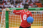 Akiko Adachi (JPN), <br /> SEPTEMBER 14, 2016 - Goalball : <br /> Quarter Final match between China 5-3 Japan <br /> at Future Arena<br /> during the Rio 2016 Paralympic Games in Rio de Janeiro, Brazil.<br /> (Photo by AFLO SPORT)
