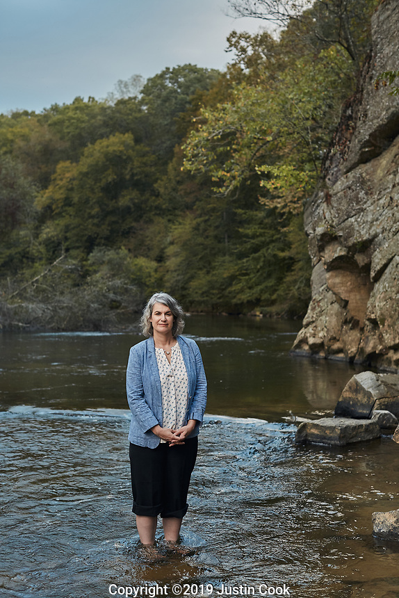Portrait of Caroline Armijo at Moratock State Park on the Dan River in Danbury, North Carolina, Saturday, October 12, 2019  (Justin Cook)