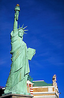 Replica of the Statue of Liberty in front of New York-New York Hotel & Casino. Las Vegas Nevada, New York New York Hotel & Casino.