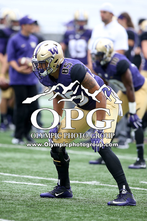 03 September 2016: Washington's David Ajamu against Rutgers.  Washington defeated Rutgers 48-13 at the University of Washington in Seattle, WA.