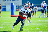 July 28, 2017: New England Patriots running back Dion Lewis (33) does a drill at the New England Patriots training camp held at Gillette Stadium, in Foxborough, Massachusetts. Eric Canha/CSM