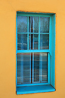 Turquoise Window and Yellow Adobe -  Arizona