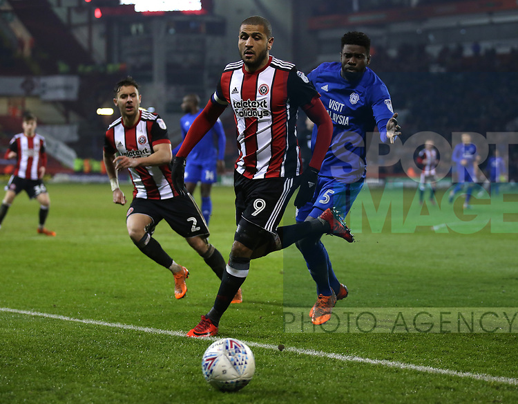 Leon Clarke of Sheffield Utd during the Championship match at Bramall Lane Stadium, Sheffield. Picture date 02nd April, 2018. Picture credit should read: Simon Bellis/Sportimage