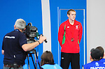 Wales&rsquo; Jack Thomas on the podium after taking the bronze medal in the men&rsquo;s para-sport 200m freestyle S14 final<br /> <br /> Photographer Chris Vaughan/Sportingwales<br /> <br /> 20th Commonwealth Games - Day 3 - Saturday 26th July 2014 - Swimming - Tollcross International Swimming Centre - Glasgow - UK