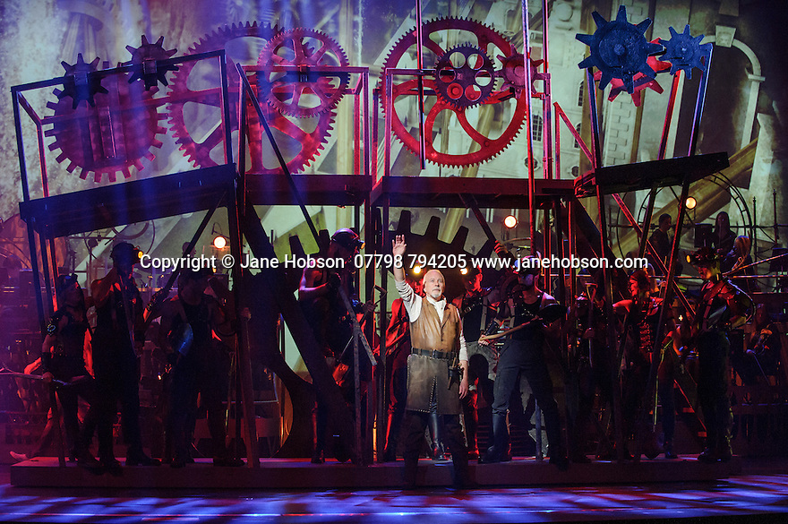 Jeff Wayne's Musical Version of the War of the Worlds opens at the Dominion Theatre. Picture shows: David Essex (The Voice of Humanity)