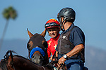 ARCADIA, CA  JUNE 23: #4 American Anthem, ridden by Mike Smith, in the post parade of the San Carlos Stakes on June 23, 2018, at Santa Anita Park in Arcadia, CA. (Photo by Casey Phillips/Eclipse Sportswire/Getty Images)