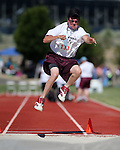 Todd Crowe, of Elko, competes in the long jump event the Special Olympics Nevada 2013 Summer Games in Reno, Nev., on Saturday, June 1, 2013. <br /> Photo by Cathleen Allison