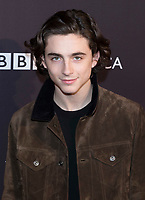 Thimotee Chalamet attends the BAFTA Los Angeles Awards Season Tea Party at Hotel Four Seasons in Beverly Hills, California, USA, on 06 January 2018. Photo: Hubert Boesl - NO WIRE SERVICE - Photo: Hubert Boesl/dpa /MediaPunch ***FOR USA ONLY***