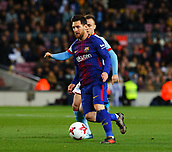 11th January 2018, Camp Nou, Barcelona, Spain; Copa del Rey football, round of 16, 2nd leg, Barcelona versus Celta Vigo;  Lionel Messi drives forward on the ball which leads to the first goal in the  13th minute