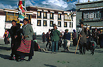 The Jokhang Temple, located on Barkhor Square in Lhasa, Tibet Autonomous Region, China