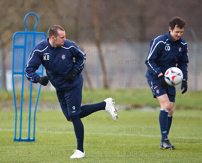 Kris Boyd at training doing a casual backheel
