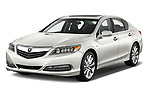 2017 Acura RLX Sport Hybrid 4 Door Sedan angular front stock photos of front three quarter view