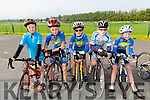 Bobby Byrne, Greg byrne, Adam Doyle, Thomas Gould and Adam Lenin from Kingdom Cycling Club at the Meet and Greet with Nicolas Roche from Sky Team at the Killarney Racecourse last Sunday morning.