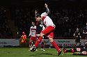 Robin Shroot of Stevenage escapes from Dannie Bulman of Crawley to score. Stevenage v Crawley Town - npower League 1 -  Lamex Stadium, Stevenage - 15th December, 2012. © Kevin Coleman 2012..