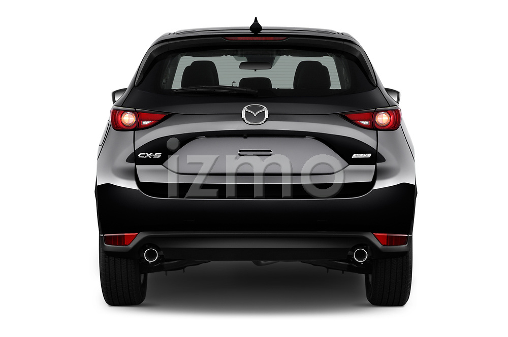 Straight rear view of a 2017 Mazda CX-5 Sport 5 Door SUV stock images