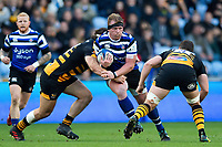 Jacques van Rooyen of Bath Rugby takes on the Wasps defence. Heineken Champions Cup match, between Wasps and Bath Rugby on October 20, 2018 at the Ricoh Arena in Coventry, England. Photo by: Patrick Khachfe / Onside Images