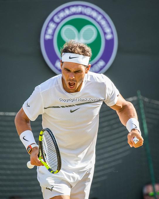 London, England, 10th July 2017. Tennis, Wimbledon. Rafael Nadal (ESP). Photo Henk Koster, Tennis Images.