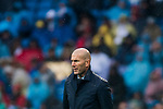Manager Zinedine Zidane of Real Madrid reacts during the La Liga 2017-18 match between Real Madrid and Villarreal CF at Santiago Bernabeu Stadium on January 13 2018 in Madrid, Spain. Photo by Diego Gonzalez / Power Sport Images