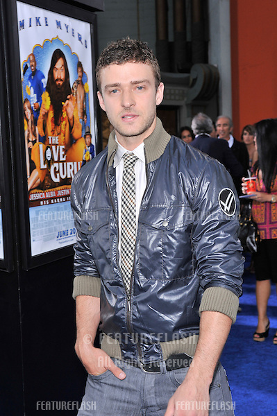 "Justin Timberlake at the Los Angeles premiere of his new movie ""The Love Guru"" at Grauman's Chinese Theatre, Hollywood..June 11, 2008  Los Angeles, CA.Picture: Paul Smith / Featureflash"