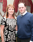 Joyce and Liam McKenna at the Charity Event in the Boyne Valley Hotel to raise money for Drogheda Womens Refuge, Drogheda Special Needs and ABACAS...(Photo credit should read Jenny Matthews/www.newsfile.ie)....This Picture has been sent you under the conditions enclosed by:.Newsfile Ltd..The Studio,.Millmount Abbey,.Drogheda,.Co Meath..Ireland..Tel: +353(0)41-9871240.Fax: +353(0)41-9871260.GSM: +353(0)86-2500958.email: pictures@newsfile.ie.www.newsfile.ie.