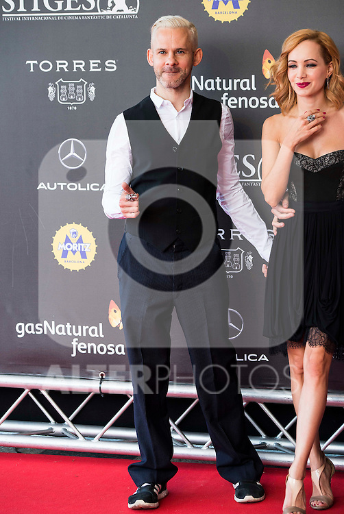 "British actor Dominic Monaghan attends to the red carpet of the presentation during the presentation of the film  ""Pet"" at Festival de Cine Fantastico de Sitges in Barcelona. October 11, Spain. 2016. (ALTERPHOTOS/BorjaB.Hojas)"