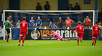 Gainsborough Trinity's Ashley Worsfold scores his sides second goal from the penalty spot<br /> <br /> Photographer Andrew Vaughan/CameraSport<br /> <br /> Pre-Season Friendly - Gainsborough Trinity v Lincoln City - Saturday 15th July 2017 - The Gainsborough Martin &amp; Co Arena - Gainsborough<br /> <br /> World Copyright &copy; 2017 CameraSport. All rights reserved. 43 Linden Ave. Countesthorpe. Leicester. England. LE8 5PG - Tel: +44 (0) 116 277 4147 - admin@camerasport.com - www.camerasport.com