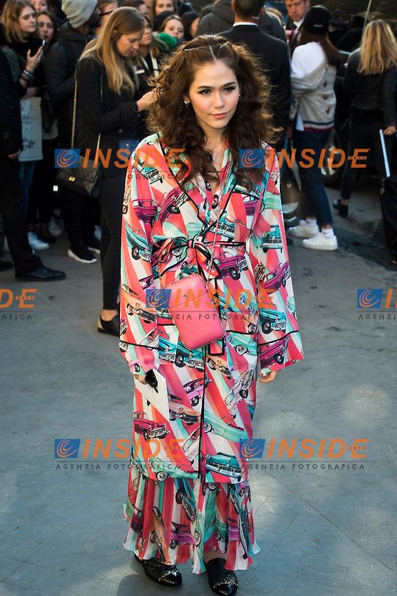 Araya Alberta Hargate Chanel s fashion show arrivals - Paris - 04/10/2016 <br /> Foto Panoramic / Insidefoto