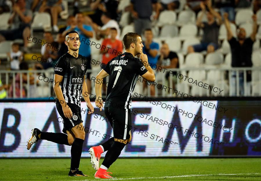 Fudbal Super League Season 2017-2018<br /> Partizan v Macva (Sabac)<br /> Nemanja Mihajlovic (R) celebrates scoring the goal<br /> Beograd, 22.07.2017.<br /> foto: Srdjan Stevanovic/Starsportphoto &copy;