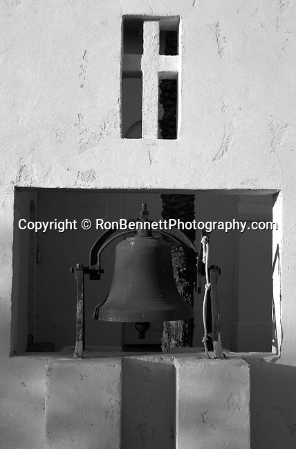 Mission Church bell and cross, bell, cross, California, West Coast of US, Golden State, 31st State, California, Fine Art Photography by Ron Bennett, Fine Art, Fine Art photography, Art Photography, Copyright RonBennettPhotography.com ©