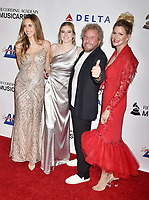 LOS ANGELES, CA - FEBRUARY 08: Sammy Hagar (2nd R) with Samantha Hagar, Kama Hagar and Kari Karte attend MusiCares Person of the Year honoring Dolly Parton at Los Angeles Convention Center on February 8, 2019 in Los Angeles, California.<br /> CAP/ROT/TM<br /> &copy;TM/ROT/Capital Pictures