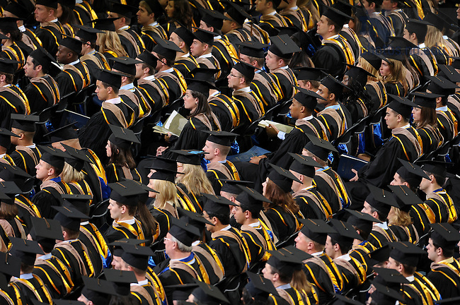 May 21, 2011; Mendoza College of Business graduate students at the MCOB Commencement ceremony at the Purcell Pavilion...Photo by Matt Cashore/University of Notre Dame