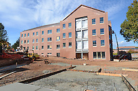 Central Connecticut State University.  New Academic Building.  Project No: BI-RC-324.Architect: Burt Hill Kosar Rittelmann Associates    Contractor: Gilbane Building Company, Glastonbury, CT..James R Anderson Photography   New Haven CT   photog.com.Date of Photograph: 18 October 2012   Image No. 03.Camera View: North. Site Overview from Marcus White Hall, South Elevation.