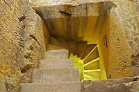 stairs to underground cellar couvent des jacobins saint emilion bordeaux france