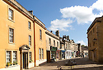 Historic buildings and shops, High Street, Corsham, Wiltshire, England, UK
